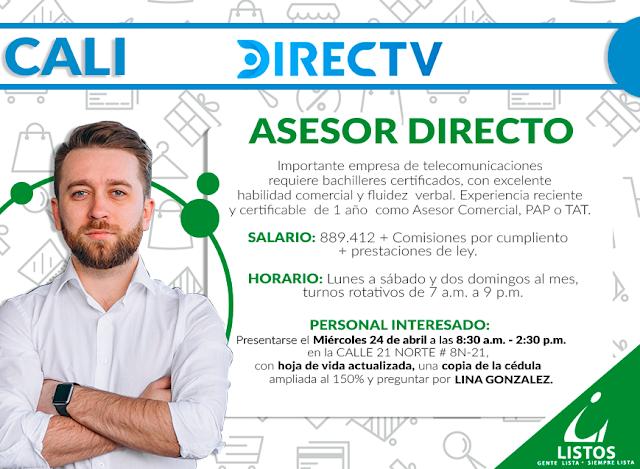 Asesor Directo - Directv en Cali