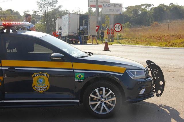 Prefeitura de Colombo e PRF realiza fiscalização na estrada da Ribeira