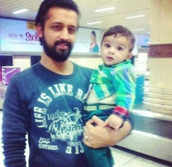 Atif Aslam with his son Ahad