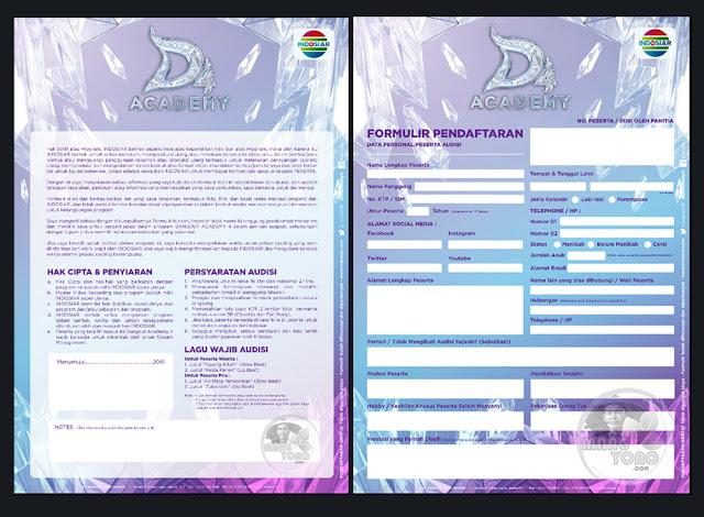 Screenshot Formulir pendaftaran