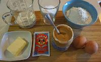 Bizcocho de mantequilla de cacahuete.