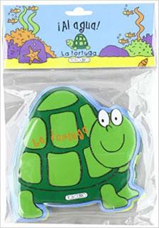 cuento infantil canastilla bebé plastico bañera al agua tortuga