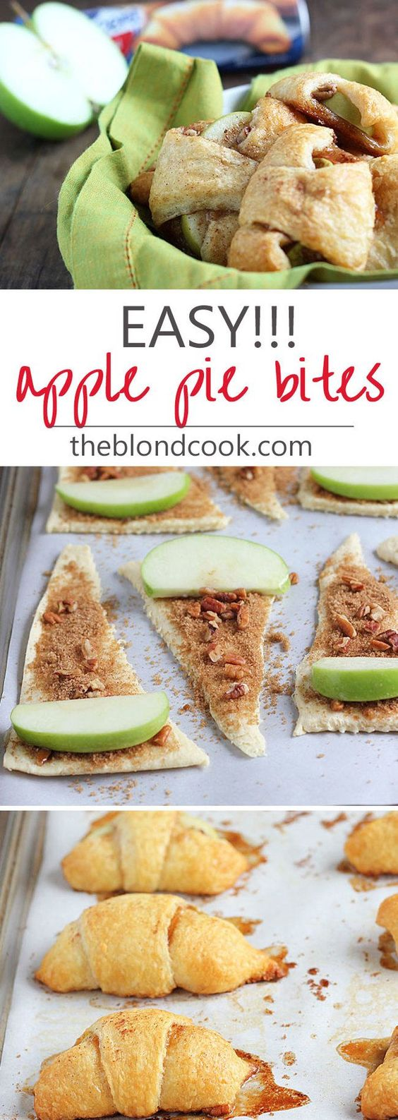 APPLE PIE BITES #apple #pie #bites #cake #cakerecipes #dessert #dessertrecipes #cookie #cookierecipes