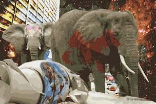 Девушка Паркера и слоны