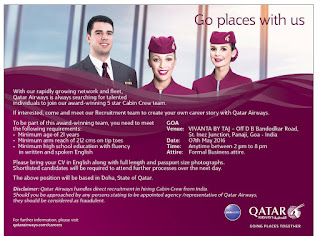 Qatar airways cabin crew recruitment 2016