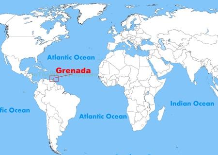Grenada Adası Haritada Nerede