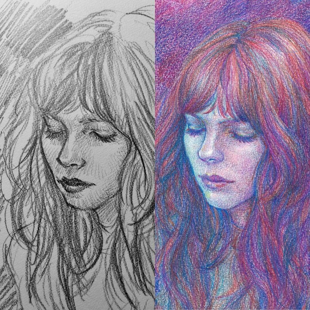 13-Sketch-vs-final-Uniquelab-Eclectic-Portraits-Different-Styles-and-Mediums-www-designstack-co