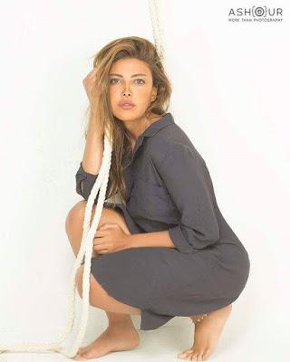 الفنانة الصاغدة ريهام حجاج بإطلالة روعة اثارت اعجاب معجبيها علي تويتر