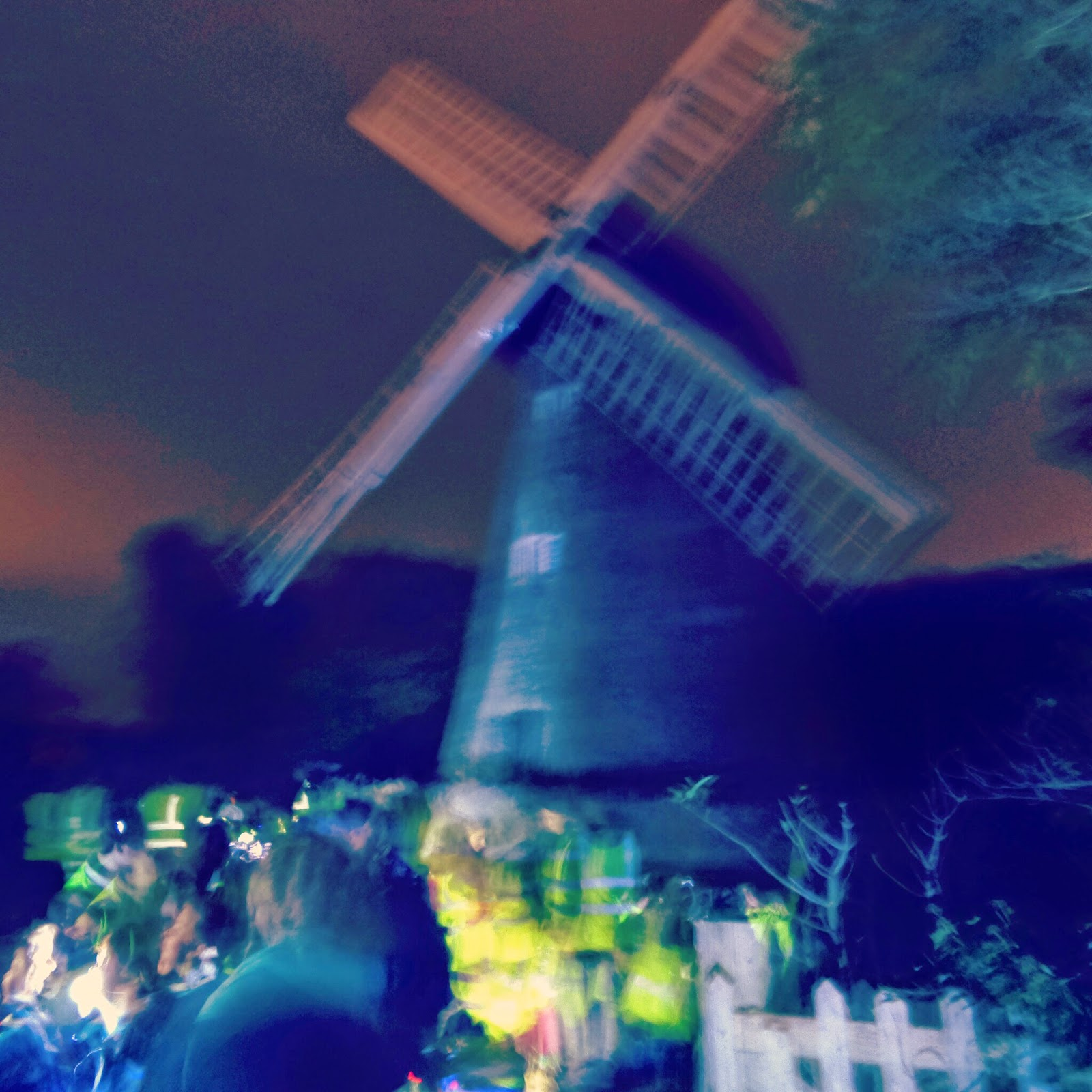 A night hike to a Windmill in Milton Keynes