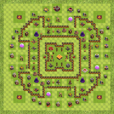 War Base Town Hall Level 10 By Holdem (3 TH 10 Layout)