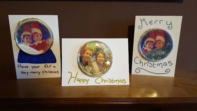 Kid Made Snow Globe Christmas Cards