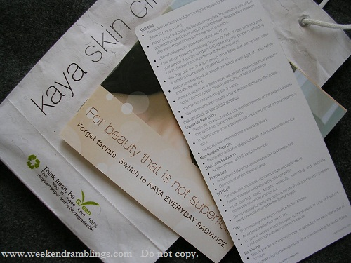 kaya skin clinic everyday radiance treatment facial reviews experience