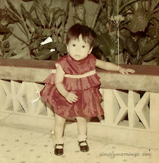 My photograph when I was one year old