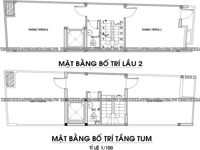 Mẫu thiết kế nhà ống 2 tầng diện tích 5x15m ở quê Tang-2-tang-tum