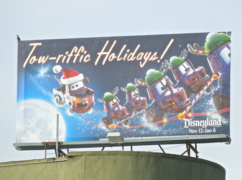 Disneyland Towriffic Holidays Cars billboard