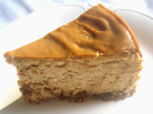 Slice of heavenly Peanut Butter Cheesecake