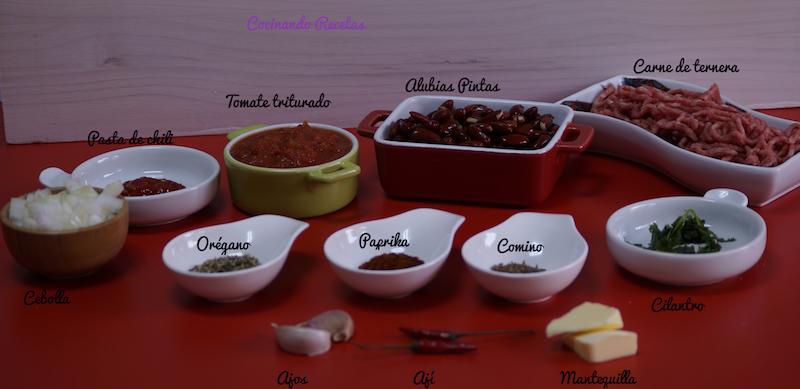 Chili con Carne-Ingredientes
