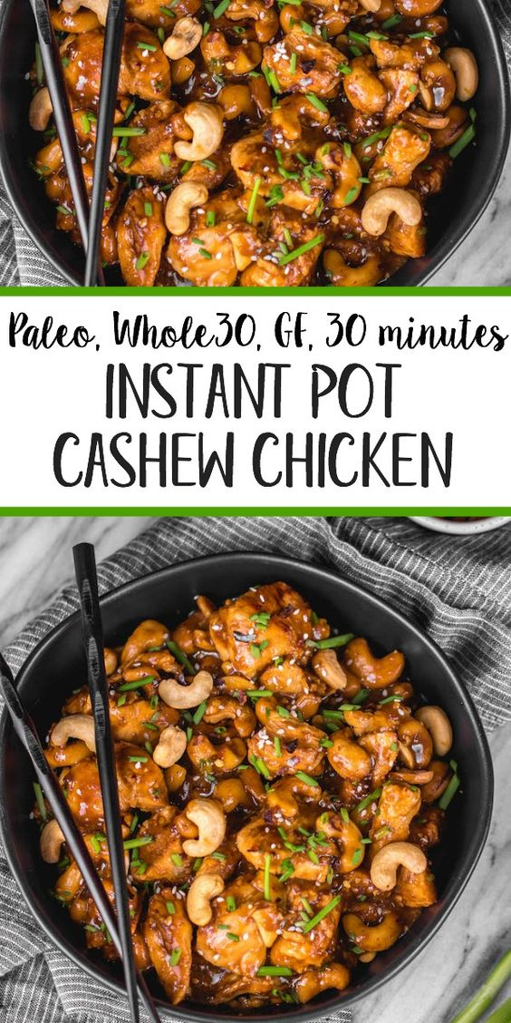 Instant Pot Cashew Chicken: Whole30, Paleo, 30 Minutes