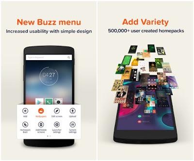 aplikasi tema android buzz launcher
