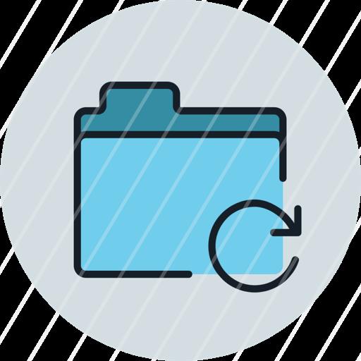 files, folder, refresh, reload, storage, icon
