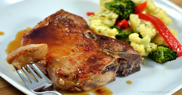 Simple Pepper Jelly Pork Chops Recipe