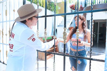 Se debe regresar la paz y tranquilidad a Playa del Carmen: Laura Beristain
