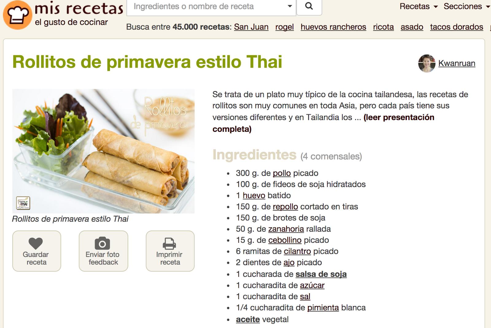 New look para las recetas novedades y noticias for Resetas para comidas
