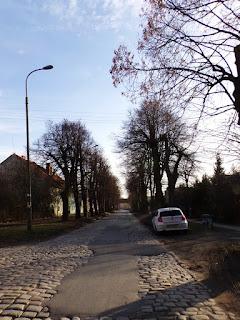 brukowana ulica we Wrocławiu