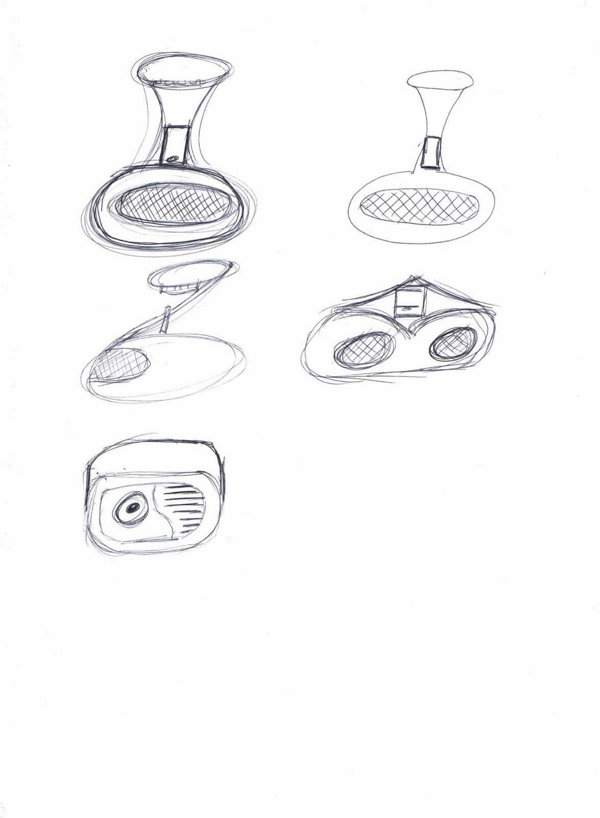 Cad Cam Mp3 Amplifier Initial Speaker Sketches