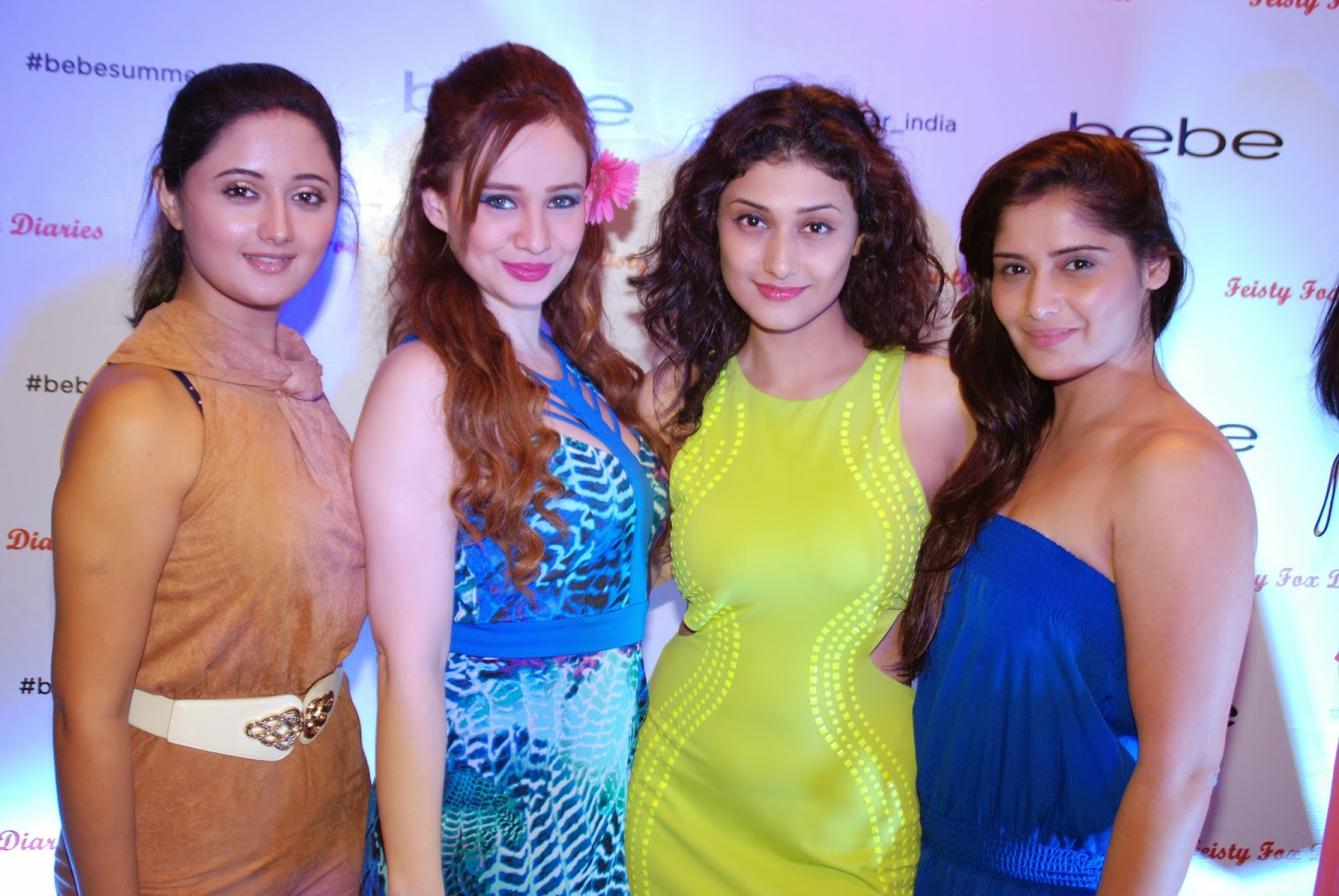 Television Actresses Ragini Khanna,Rashmi Desai, Aarti Singh with Stephanie Timmins tat the Bebe Tropic Rendezvous Event, Mumbai