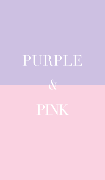 purple & pink .