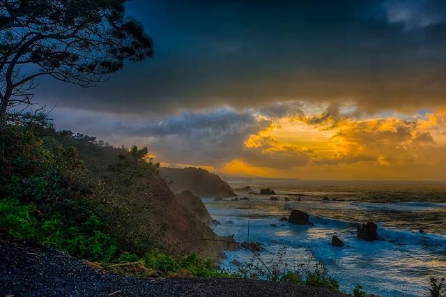 Cabo Vidio costa oeste Asturias