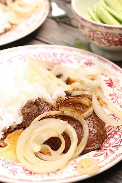 steak sauce soja et oignon