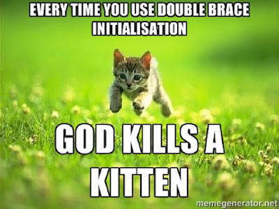 Double Brace Initialization, Alternative and Antipattern example