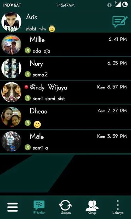 BBM Mod Black Green 2.7.0.23 + Enter Key