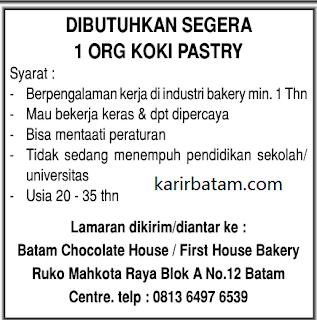 Lowongan Kerja Batam Chocolates House