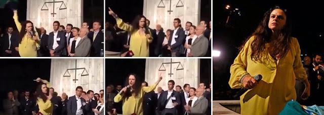Emblemático a Jurista Dra. Janaína dando o recado, direto e reto em brilhante discurso na USP
