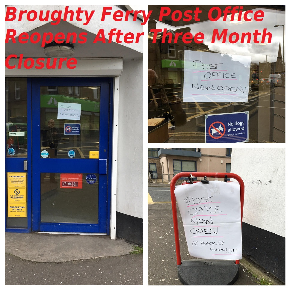 Broughty Ferry Post Office Reopens 12 April 2017