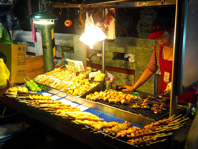 Street food at Shilin Night Market, Taipei, Taiwan