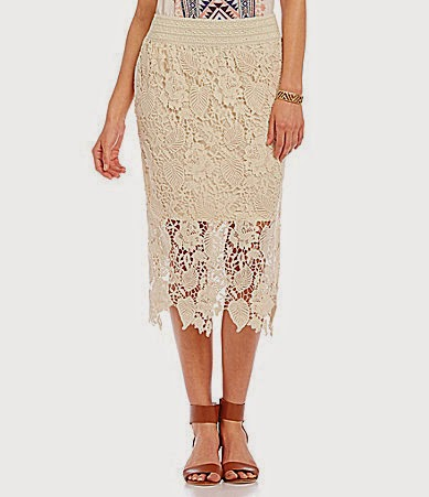 Dillards crochet skirt