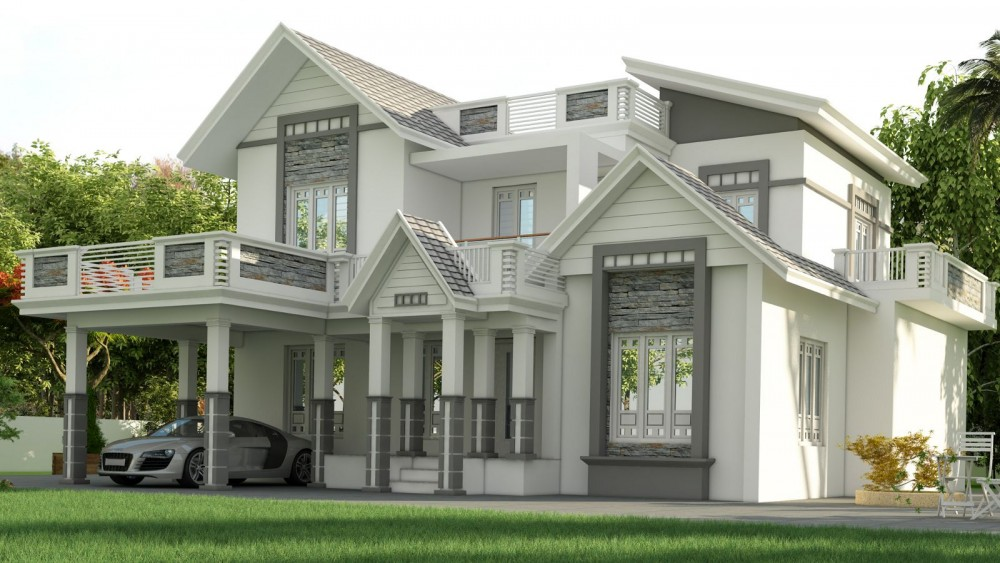 2277 sq ft 4 Bedroom Beautiful Modern Home Design