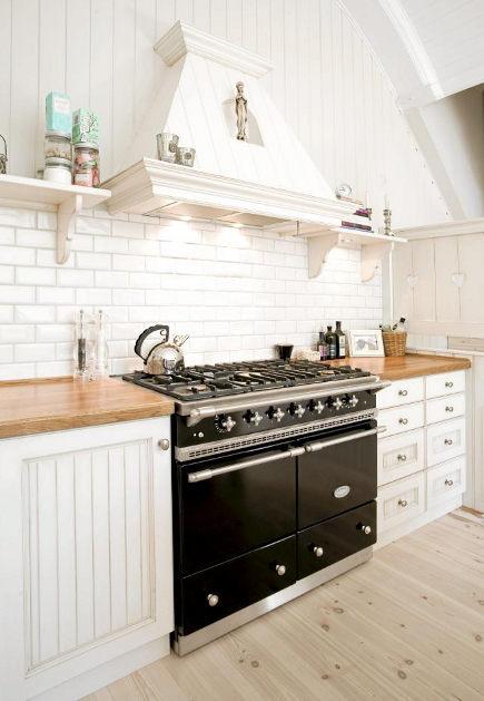 Black Cooker White Kitchen