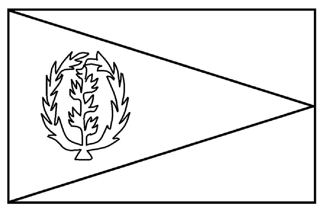 Download Mewarnai Gambar: Mewarnai Gambar Sketsa Bendera Negara Eritrea