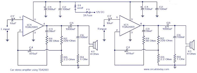 Tda2003 Car Audio Amplifier