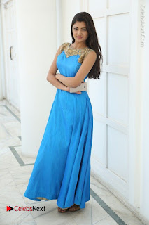 Telugu Actress Akshita (Pallavi Naidu) Latest Stills in Blue Long Dress at Inkenti Nuvve Cheppu Movie Promotions  0077.jpg