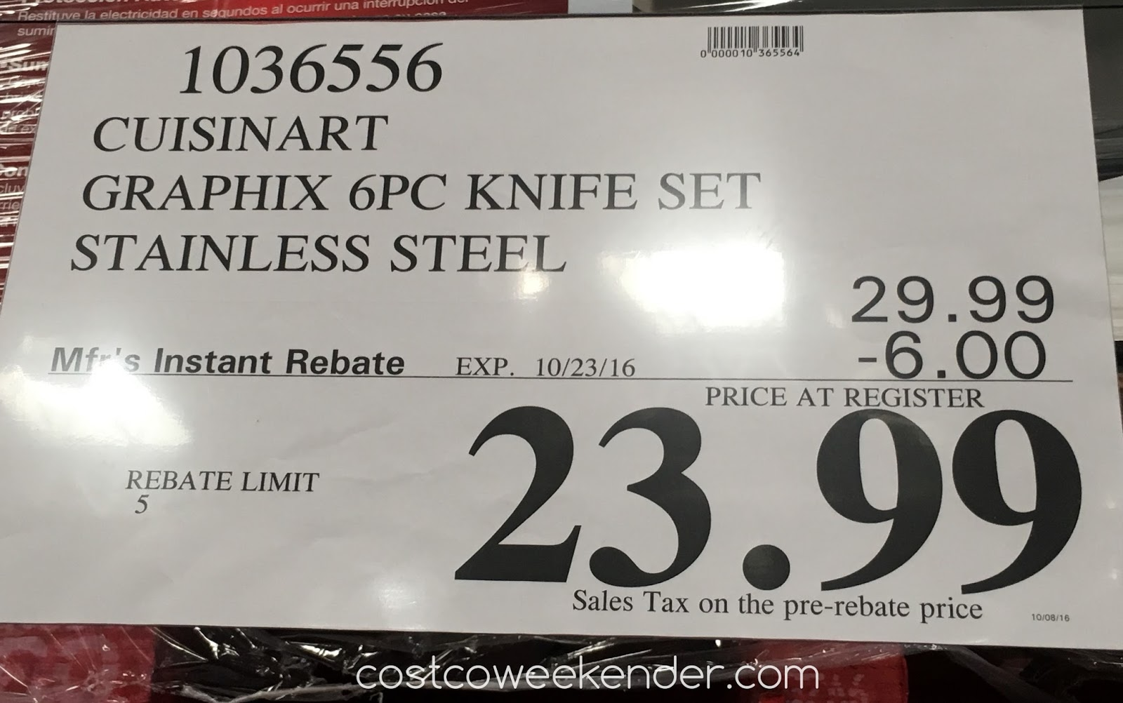 Deal for the Cuisinart Graphix 6-piece Knife Cutlery Set at Costco