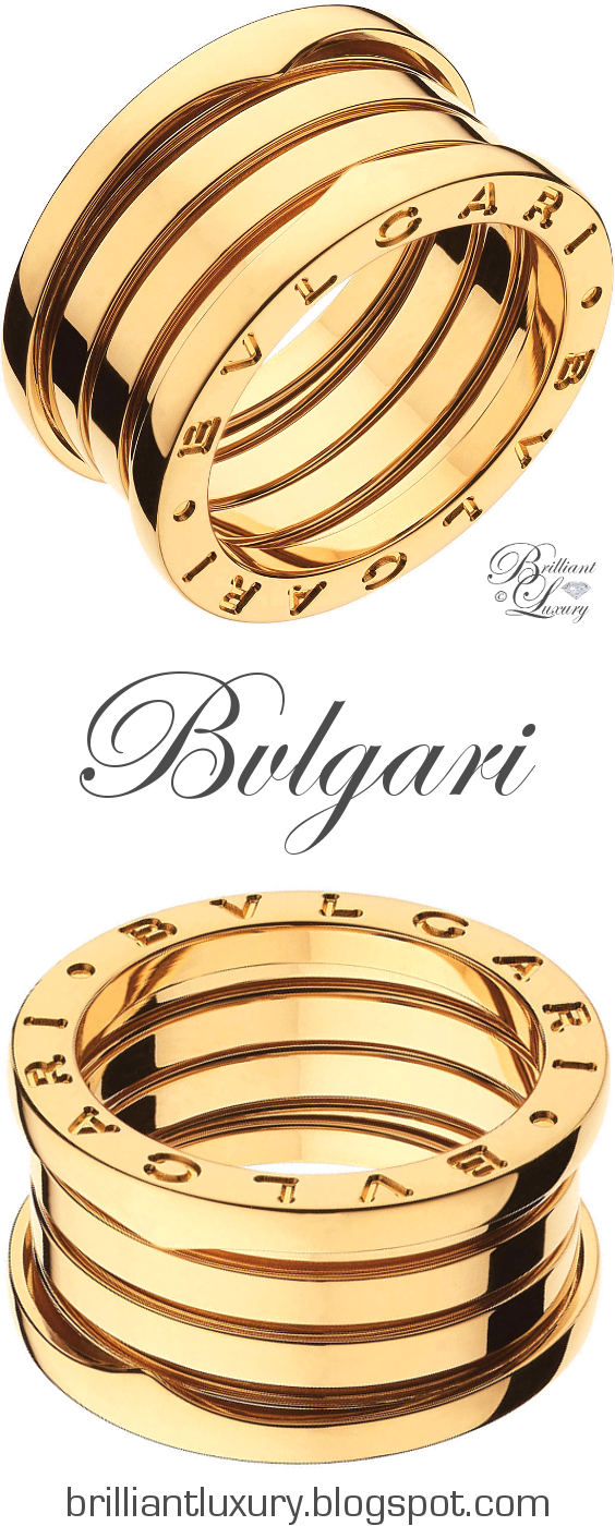 Brilliant Luxury ♦ Bvlgari B.Zero1 4-band 18 kt yellow gold ring