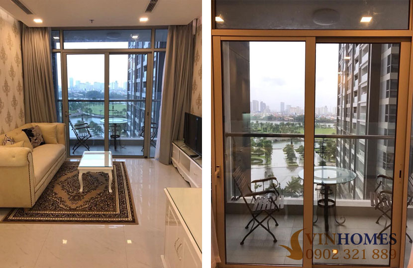 Tòa nhà Park 6 cho thuê 2PN Vinhomes có nội thất - hinh 2