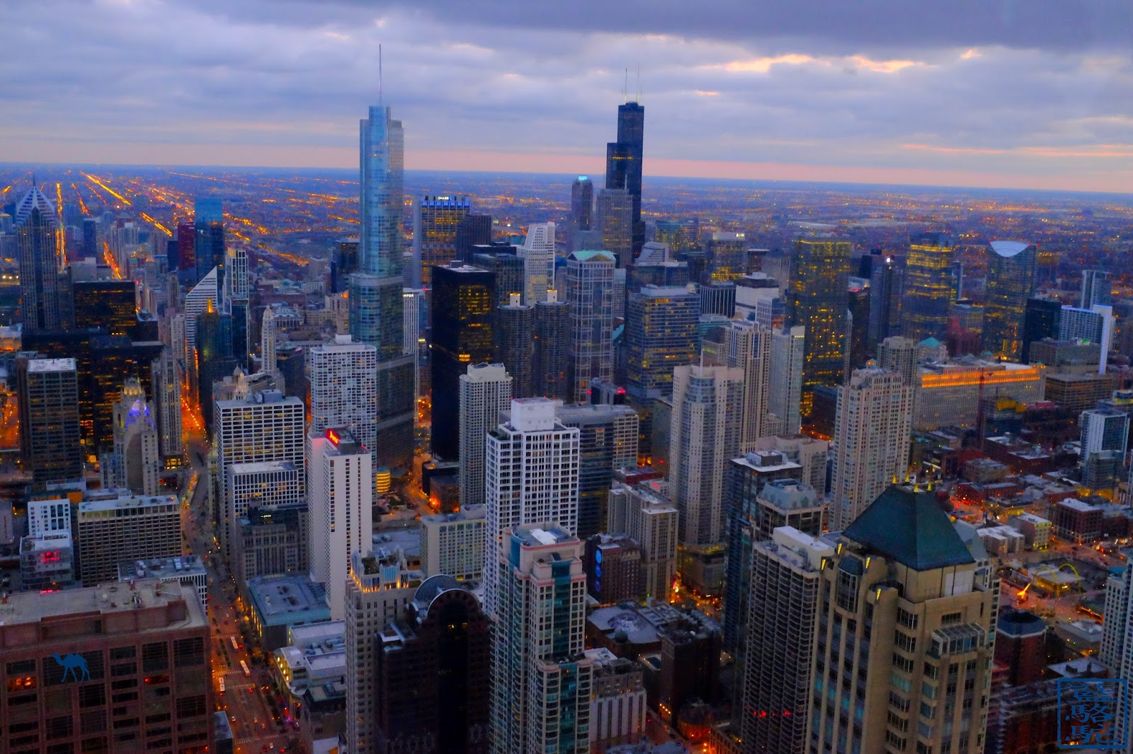 Le Chameau Bleu - Blog Voyage Chicago USA - Vue de Chicago depuis un gratte-ciel
