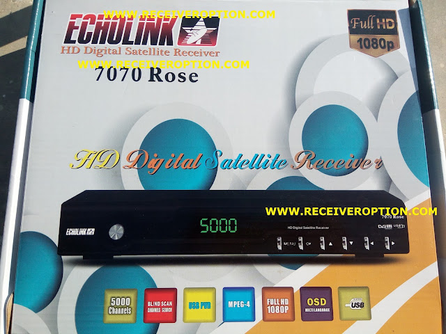 ECHOLINK 7070 ROSE HD RECEIVER BISS KEY OPTION